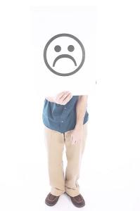 Sad face pic